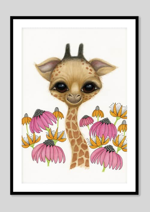 Copy of Baby Giraffe AH 2019 Black Frame