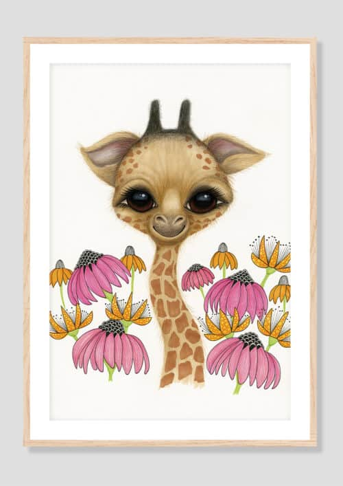 Copy of Baby Giraffe AH 2019 Oak Frame