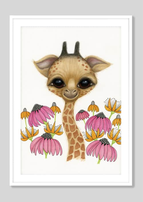 Copy of Baby Giraffe AH 2019 White Frame