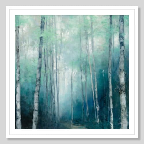 62754a To the Woods White Frame