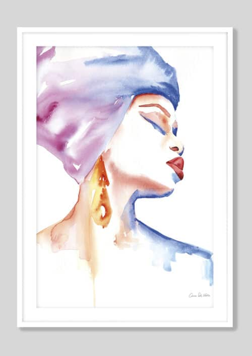 65112d Woman in Purple White Frame