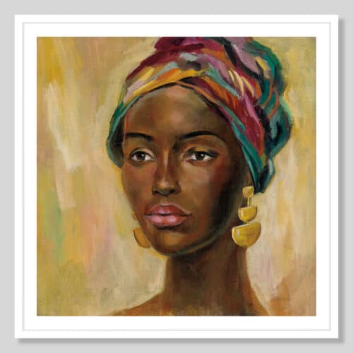 65248a African Face II White Frame