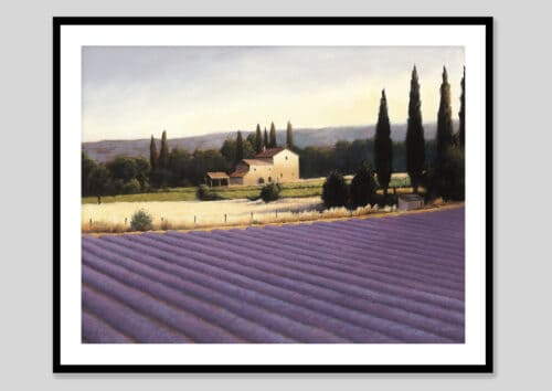 10331e Lavender Fields II Black Frame