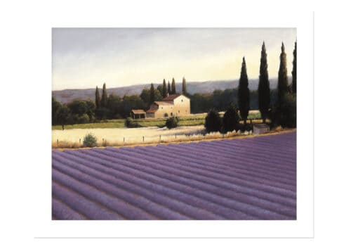 10331e Lavender Fields II NoFrameNoBackground