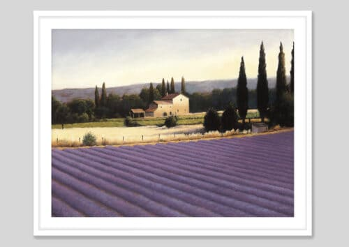 10331e Lavender Fields II White Frame