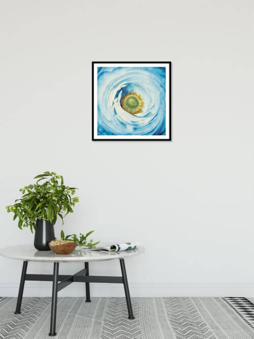 45211a White Peony with Blue Wall 06