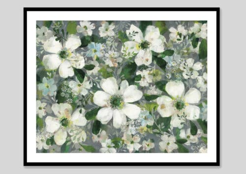 53705g Anemones and Friends Black Frame