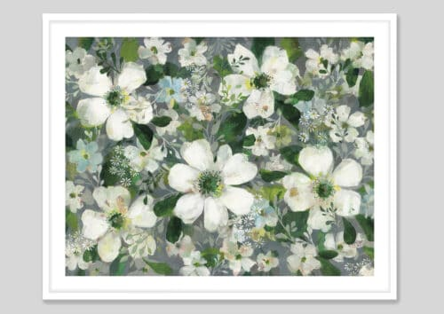 53705g Anemones and Friends White Frame