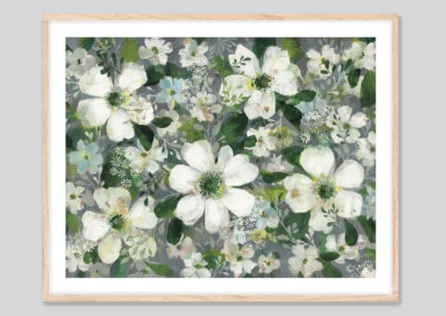 53705g Anemones and Friends oakframe