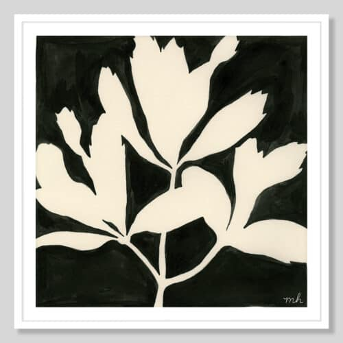 62721a Growing II White Frame