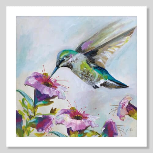 63689a Hummingbird II Florals No Frame with Background
