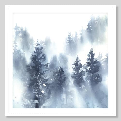 65948a Misty Forest II White Frame