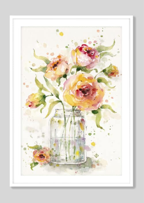 7311i Cosmos in Field White Frame