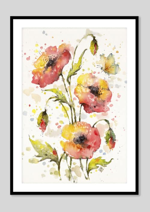 Copy of A Sea Of Poppies Black Frame