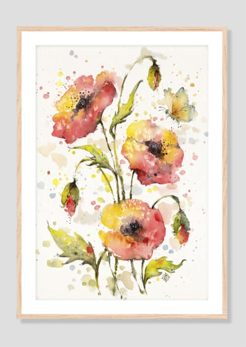 Copy of A Sea Of Poppies Oak Frame