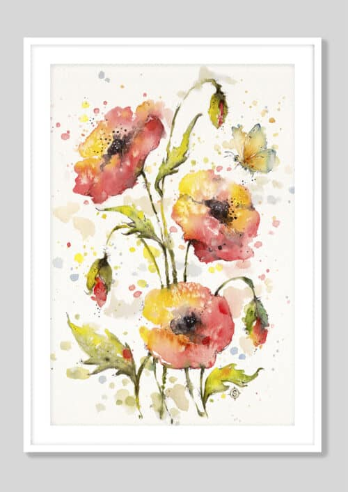 Copy of A Sea Of Poppies White Frame