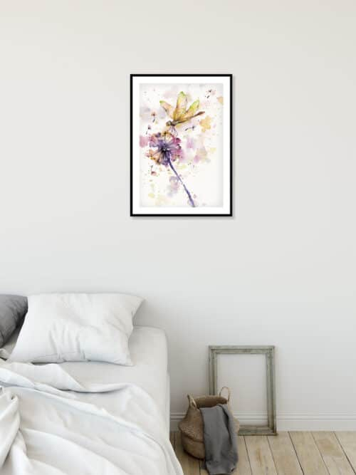 Copy of Dragonfly And Dandelion Wall 02