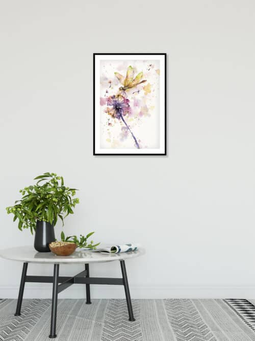 Copy of Dragonfly And Dandelion Wall 06