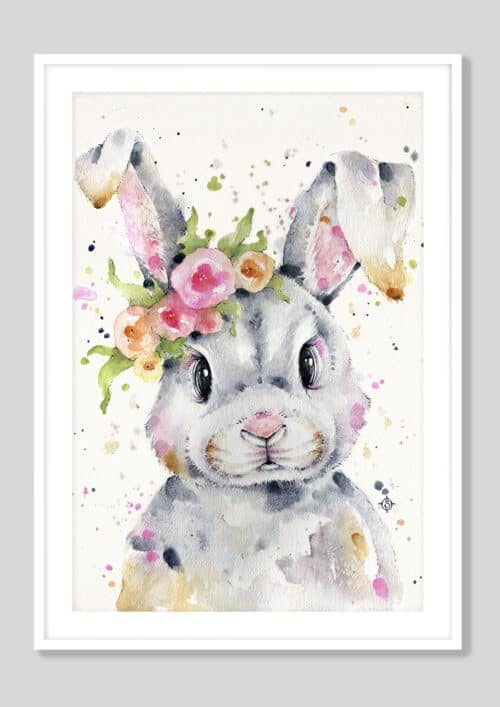 Copy of Little Miss Bunny White Frame