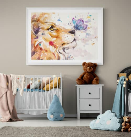 Nursery with cots and soft toys