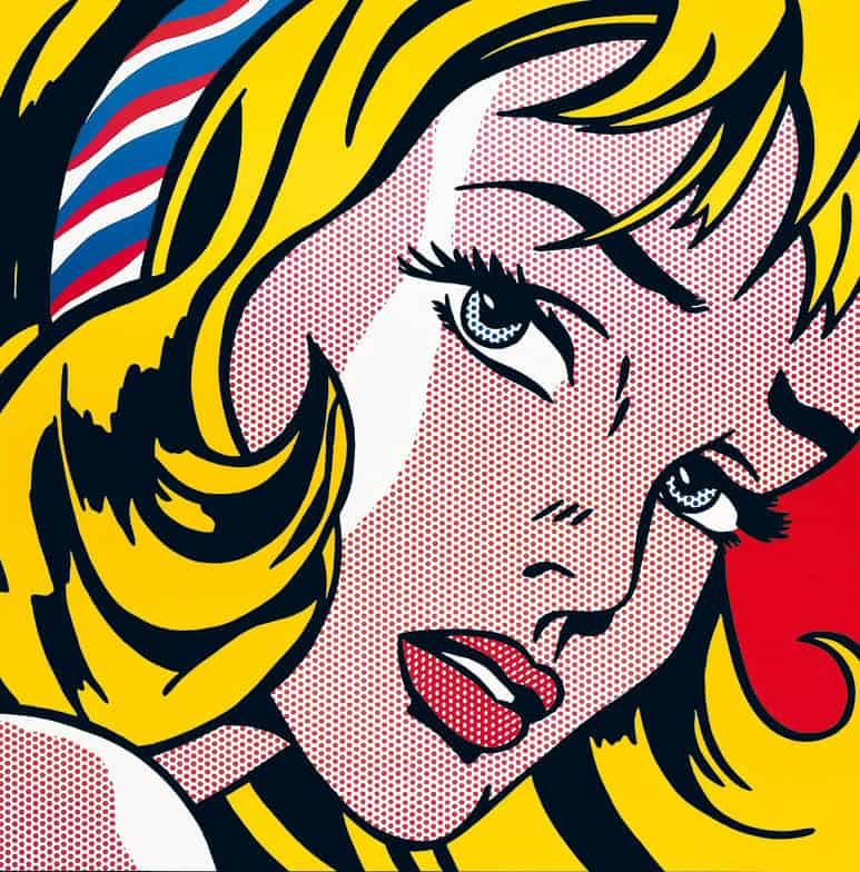 The Girl with Hair Ribbon by Roy Lichtenstein