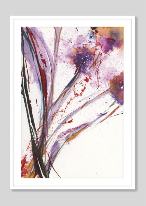 35370f Floral Explosion III White Frame