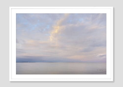 62892i Lake Superior Sky VI White Frame