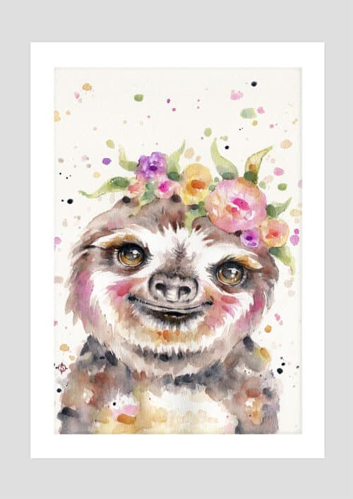 Copy of Little Sloth NoFramewithBackground