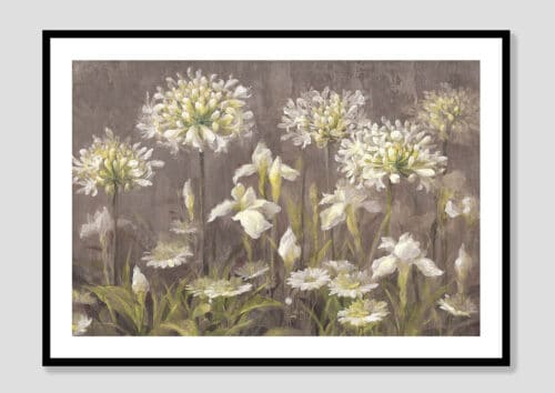 22142i Spring Blossoms Neutral Black Frame