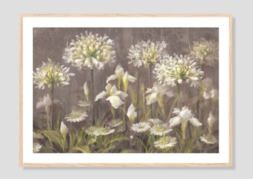 22142i Spring Blossoms Neutral Oak Frame