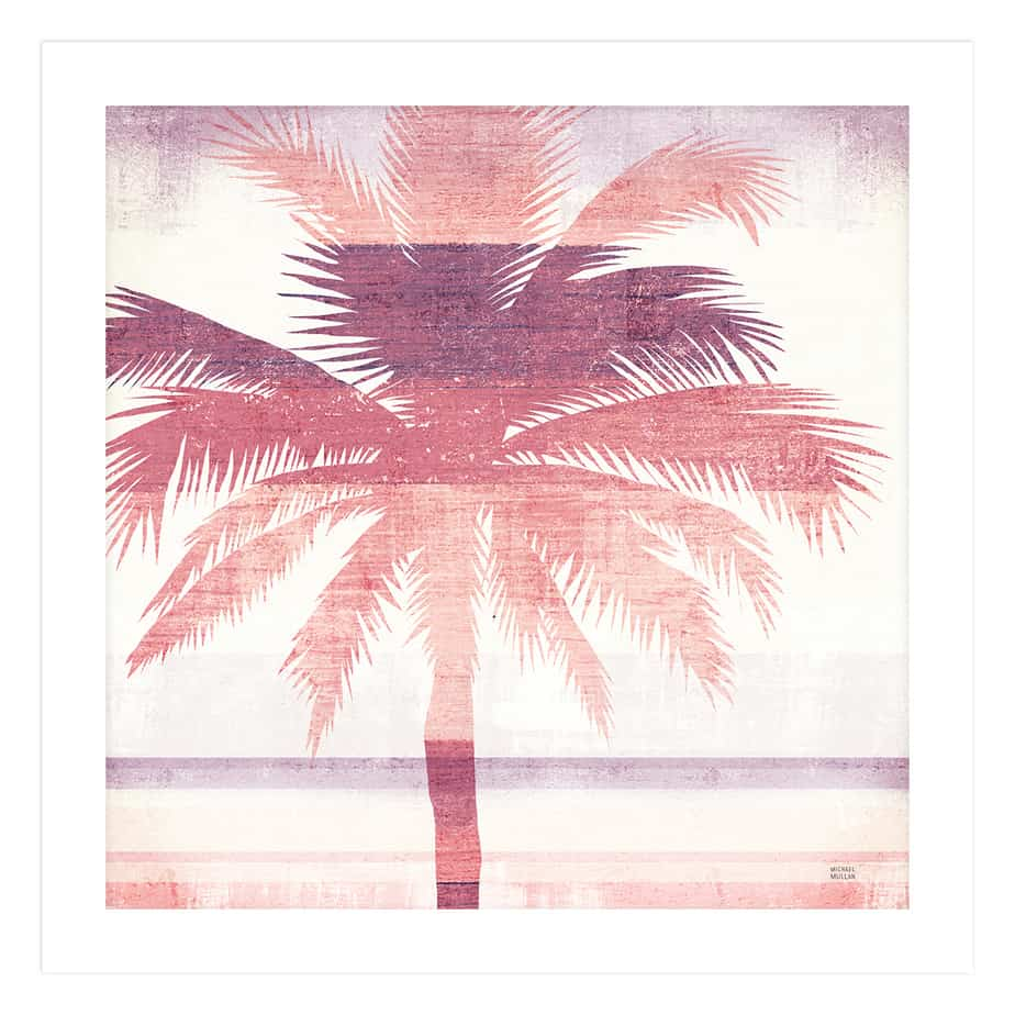 36332a Beachscape Palms II Pink Purple No Frame No Background