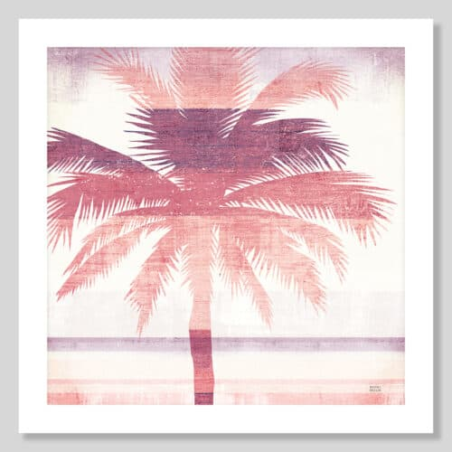 36332a Beachscape Palms II Pink Purple No Frame with Background
