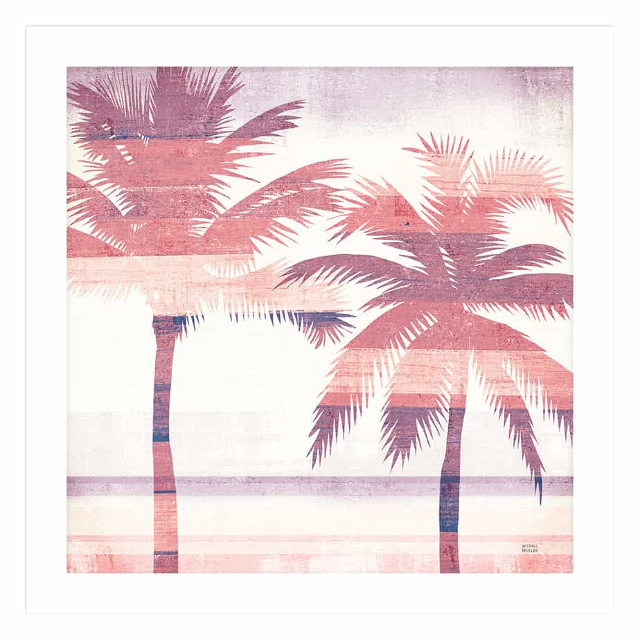 36333a Beachscape Palms III Pink Purple No Frame No Background