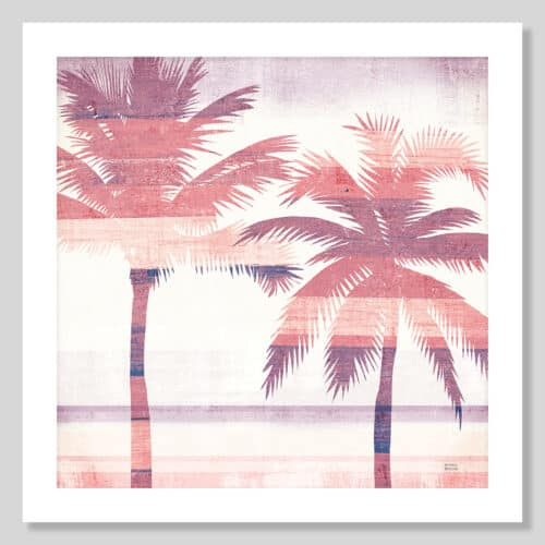 36333a Beachscape Palms III Pink Purple No Frame with Background