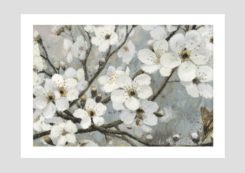 17842i Cherry Blossoms I Blue NoFramewithBackground