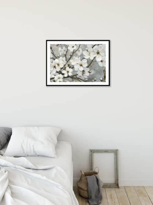 17842i Cherry Blossoms I Blue Wall 02