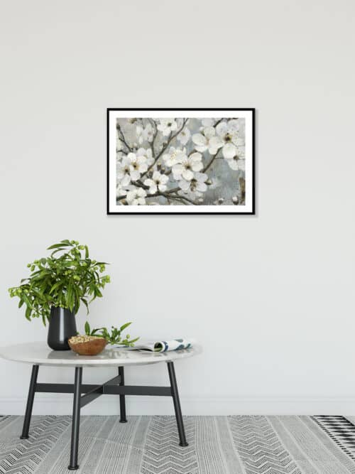 17842i Cherry Blossoms I Blue Wall 06