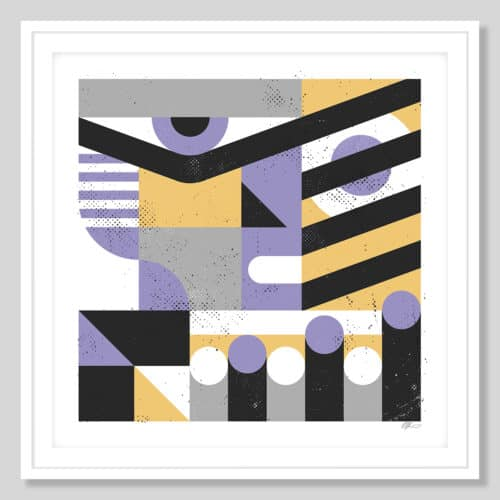 72712 a Abstract Face White Frame
