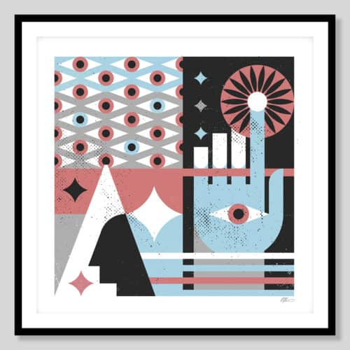 72713 a Abstract Hand Black Frame