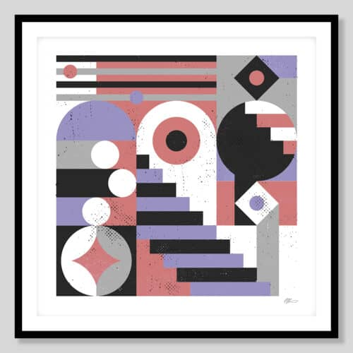 72714 a Abstract Stairs Black Frame