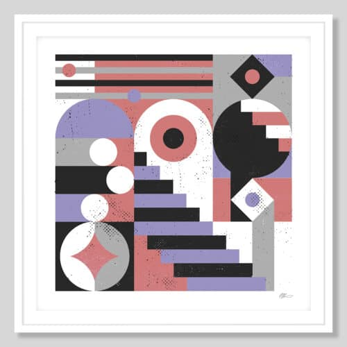72714 a Abstract Stairs White Frame