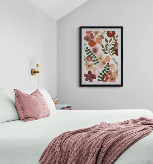 Comfy bedroom with a garden view 1
